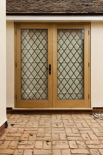 bespoke wood patio doors.
